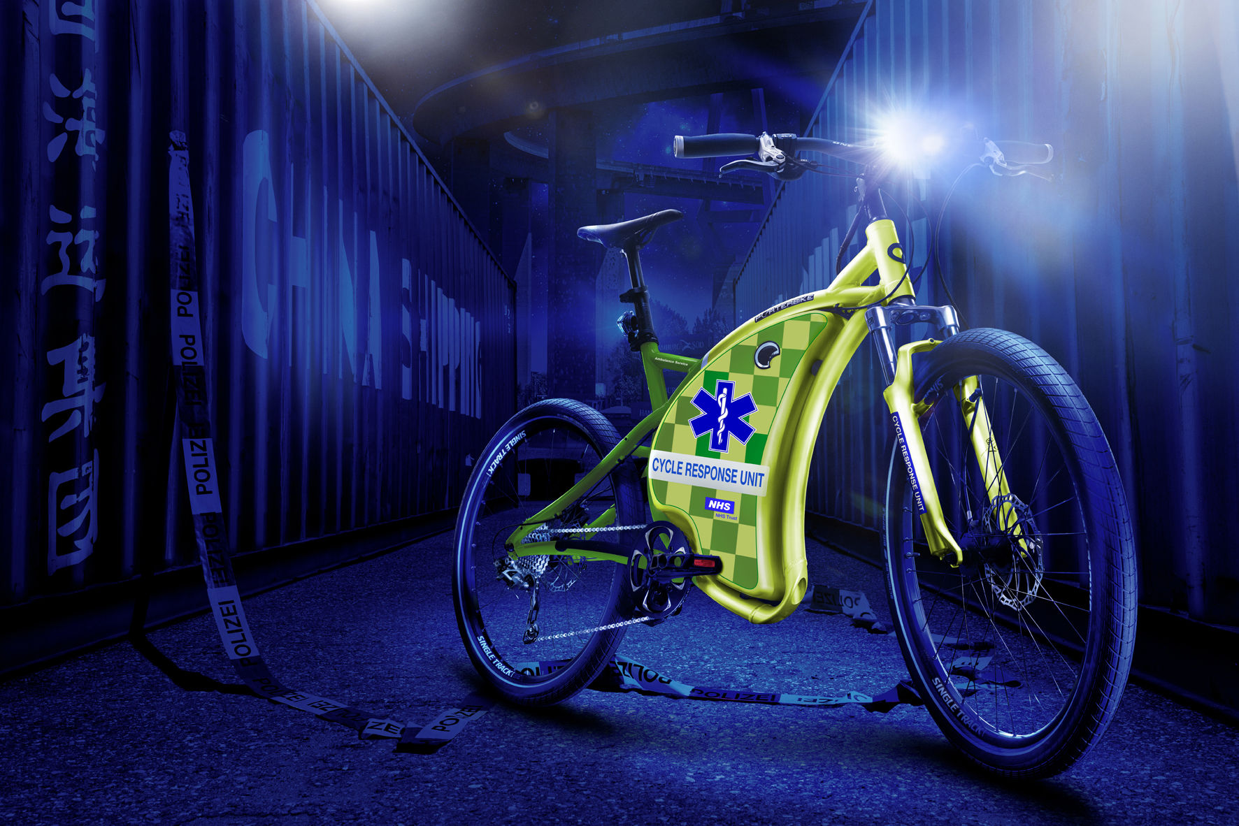 Emergency Medical Service - EMS bike design.